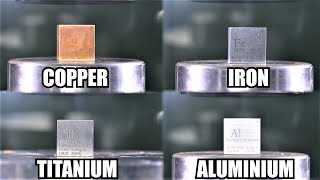 How Strong is Titanium? Hydraulic Press Test!