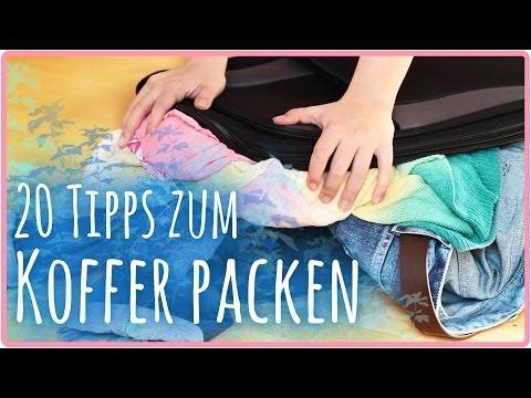 20 Tipps zum Koffer / Tasche packen