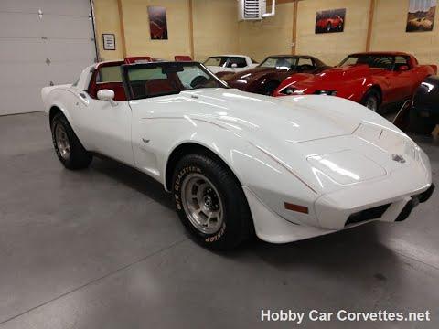 1978 Classic White Corvette T Top L82 4spd Video