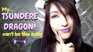 ASMR - DRAGON ROLEPLAY ~ Taming a Tsundere Dragon Girl! Mouthsounds, Ear Blowing, Humming ~