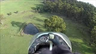 Drifter flying FPV around trees