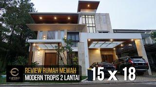 Video Hasil Konstruksi Rumah Modern 2 Lantai Ibu Dina di  BSD, Tangerang