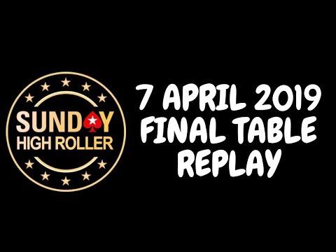 $2,100 Sunday High Roller 7 April 2019: Final Table Replay