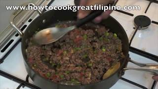 Giniling na Baka Filipino Recipe Pinoy Minced Beef