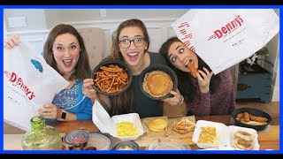 Denny's Mukbang With Colleen and Jessica!!!!