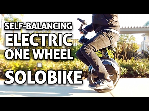 "One Wheel ""eBike"" Self-balancing Scooter! SoloBike REVIEW"