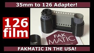 FakMatic 35mm To 126 Film Adapter!
