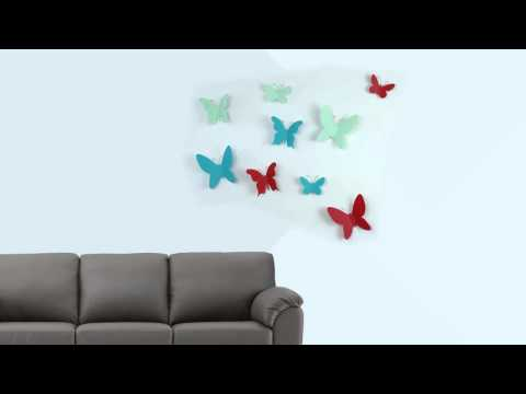 Video for Mariposa Wall Décor, Set of Nine
