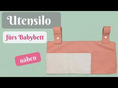 Utensilo/Organizer fürs Babybett nähen ohne Schnittmuster - Nähanleitung für Anfänger