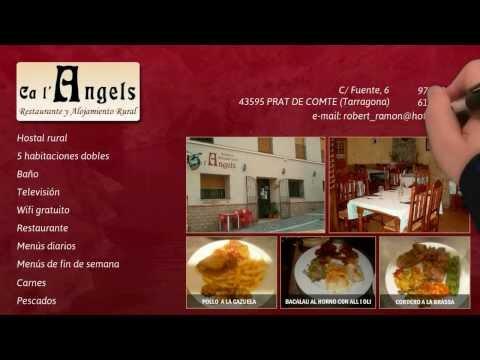Hostal restaurante en Prat de Comte, Tarragona. Cal L´Angel