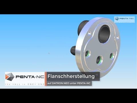 Herstellung 3D-Flansch mit DATRON NEO & PENTA-NC