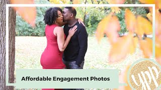 How To Get Affordable Engagement Photos For Wedding Website |  Wedding On A Budget Video #6