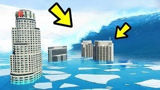 GTA 5 - FROZEN Tsunami & Ice Age!! (Natural Disaster)