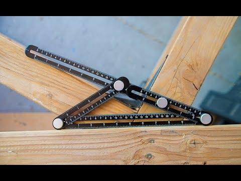 Professional Angle Template Tool Angle Measuring Tool Protractor Multi-Angle Ruler Layout Tool Ruler