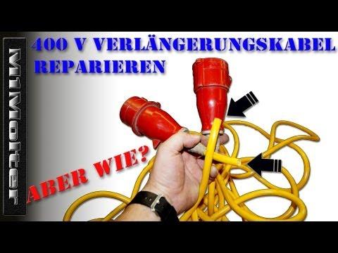 400 V Verlängerungskabel Reparieren von M1Molter