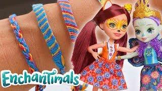 Enchantimals | DIY Friendship Bracelets 💜| Crafts For Kids | Enchantimals DIY