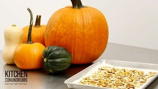 The Fast Way to Roast Your Pumpkin Seeds - Kitchen Conundrums with Thomas Joseph