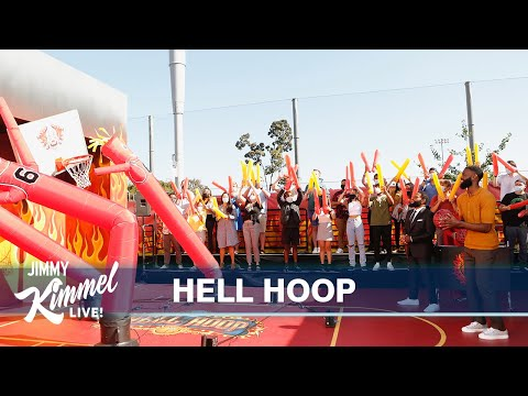 Hell Hoop Shot for Charity with NBA All-Star Jaylen Brown