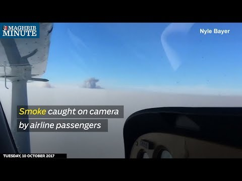 Smoke caught on camera by airline passengers