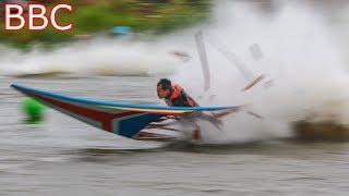 คนไทยบินได้ อุบัติเหตุเรือซิ่งไทย Thai longtail boat Accident!!