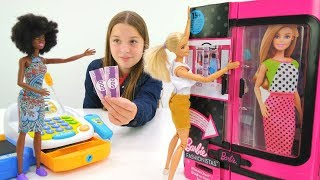 Игрушечный шкаф для Барби - распаковка. Куклы для девочек