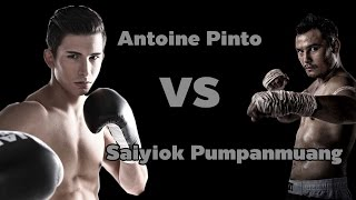 Champ Thai Fight 2014, Antoine Pinto Vs Saiyiok, King of Muay Thai