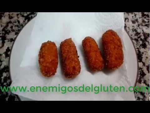 Croquetas de pollo y jamón sin gluten (gluten free)