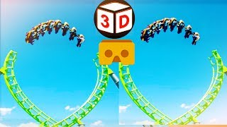 3D Roller Coaster S VR Videos 3D SBS [Google Cardboard VR Experience] VR Box Virtual Reality Video