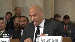 Sen. Cory Booker breaks Senate tradition, testifies against Sen. Jeff Sessions | Kholo.pk
