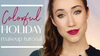 ULTA BEAUTY'S COLOR-FULL INSPIRED Holiday Makeup Tutorial | ALLIE GLINES
