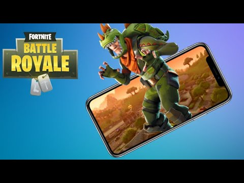 Fortnite Mobile Carrying ,Taking over Tilted Towers , first Win