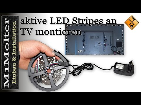 Aktive LED Stripes an TV montieren von M1Molter.