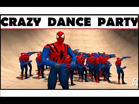 Spidermans Crazy Dancing Party In  GTA V  -  ❤ GTA V Spiderman MODS ❤
