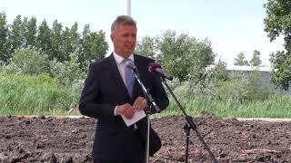 Bio zöldség és gyümölcsfeldolgozó üzem alapkő-letétele – Tiszalök, 2018.05.30.
