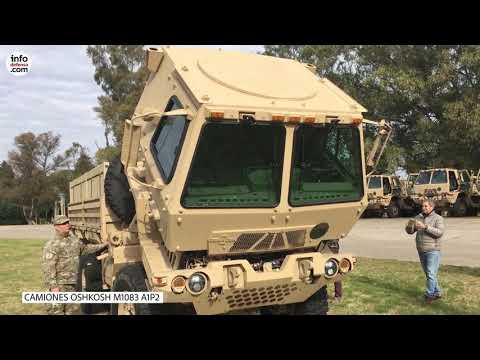 El Ejército Argentino presentó 22 camiones Oshkosh M1083 A1P2