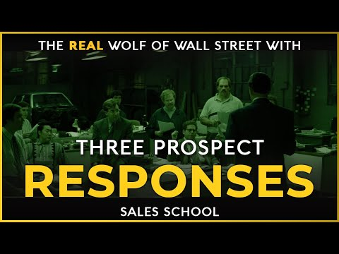 Three Prospect Responses   Free Sales Training Program   Sales ...