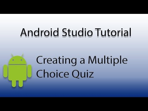 Android Studio: Create a Multiple Choice Quiz - YouTube