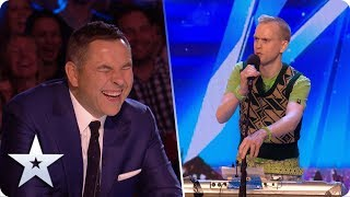 Unforgettable Audition: Robert White ROASTS our four Judges   Britain's Got Talent