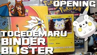 SO CUTE - Opening a Pokemon Card Togedemaru Mini Binder Blister with Sun and Moon and Steam Siege! by Flammable Lizard