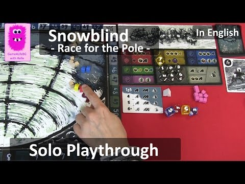 Solo playthrough and rules overview of Snowblind: Race for the Pole