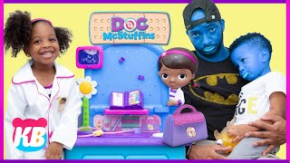 Your Face is BLUE   Doc McStuffins to the Rescue Pretend Play