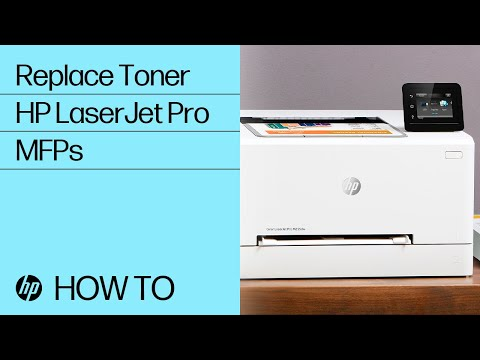 How to Replace Toner in the HP Color LaserJet Pro M155-M156, M255-M256, M182-M185, and M282-M285 Printer Series
