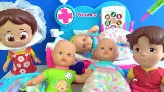 Doktor Niloya Heidinin tuvaletini yapan bebeğine aşı yapıyor Niloya bebek bakma oyunu doktorculuk
