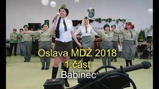 Oslava MDŽ 2018 - 1 část., Klub žen Horní Domaslavice - Babinec