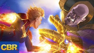 Can Captain Marvel Actually Defeat Thanos In Avengers 4?