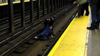 Man fell on the subway track
