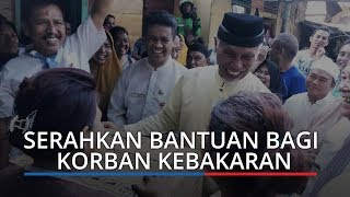 Kebakaran Los Baro Pasar Raya, Walikota Padang Mahyeldi Serahkan Bantuan bagi Korban