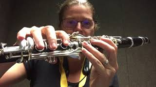2 Octave F Major Scale on the Clarinet