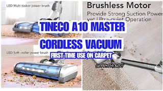 Using The Tineco A10 Master On Carpet For The First Time