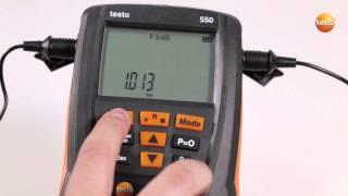 Testo 549/550/557 (ab Generation 2015): Grundeinstellungen Vornehmen | Be Sure. Testo